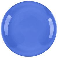 "Carlisle 4300614 Durus 7 1/4"" Ocean Blue Narrow Rim Melamine Plate - 48/Case"