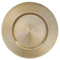 The Jay Companies 1470456 13 inch Fusion Gold Glass Charger Plate