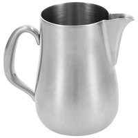 Walco CX526B Satin Soprano 12 oz. Stainless Steel Creamer without Lid