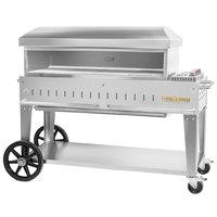 Crown Verity PZ-48-MB Liquid Propane 48 inch x 16 inch Mobile Pizza Oven - 55,000 BTU