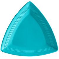 Tuxton CIZ-1248 Concentrix 12 1/2 inch Island Blue Triangle China Plate - 6/Case