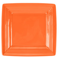 Tuxton CPH-0845 Concentrix 8 1/2 inch Papaya Square China Plate   - 12/Case