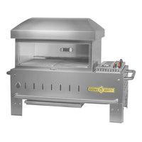 Crown Verity PZ-24-TT Liquid Propane 24 inch x 16 inch Table Top Pizza Oven - 30,000 BTU