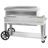 Crown Verity PZ-48-MB-NG Natural Gas 48 inch x 16 inch Mobile Pizza Oven - 55,000 BTU