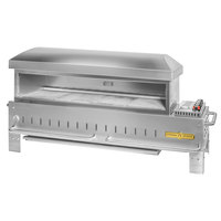 Crown Verity PZ-48-TT-NG Natural Gas 48 inch x 16 inch Table Top Pizza Oven - 55,000 BTU