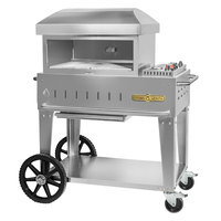 Crown Verity PZ-24-MB-NG Natural Gas 24 inch x 16 inch Mobile Pizza Oven - 30,000 BTU