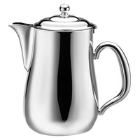Walco CX528L Soprano 5 oz. Stainless Steel Creamer with Lid