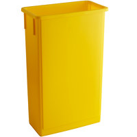 Lavex Janitorial 23 Gallon Yellow Slim Trash Can
