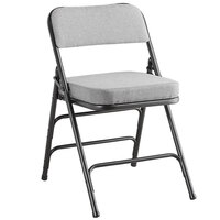 Lancaster Table & Seating Black Fabric Folding Chair with 2 inch Padded Seat