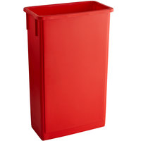 Lavex Janitorial 23 Gallon Red Slim Trash Can