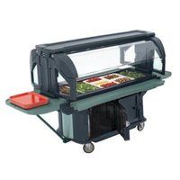 Cambro VBRU6186 Navy Blue 6' Versa Ultra Food / Salad Bar with Storage and Standard Casters