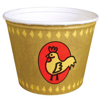 Dart Solo 5T1GR-86868 5 lb. Grease Resistant Chicken Bucket - 100/Case