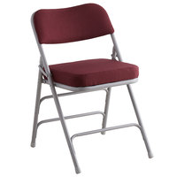 Lancaster Table & Seating Burgundy Fabric Folding Chair with 2 inch Padded Seat