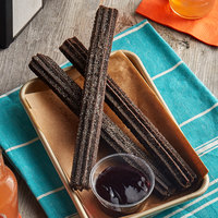 J & J Snacks 8 inch Creme Filled Oreo Churros with Sugar Crumb Topping - 100/Case