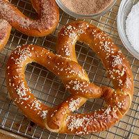 J & J Snack Foods Gourmet Twist 6 oz. Original Twist Topped Soft Pretzel - 24/Case