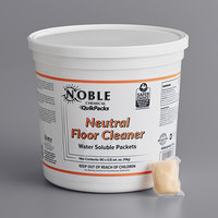 Noble Chemical QuikPacks 0.5 oz. Neutral Floor Cleaner Packs 90 Count Tub   - 2/Case