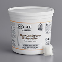 Noble Chemical QuikPacks 0.5 oz. Floor Conditioner and Neutralizer Packs 90 Count Tub - 2/Case