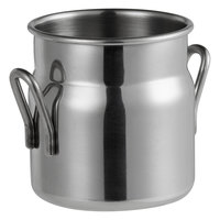 Vollrath 59763 3.1 oz. Mini Milk Can Stainless Steel Creamer