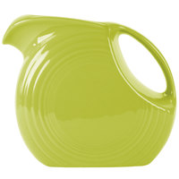 Homer Laughlin 484332 Fiesta Lemongrass 2.1 Qt. Large Disc Pitcher - 2/Case