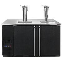 Micro Matic MDD58W-E-A Pro-Line E-Series 59 1/2 inch Dual Zone Wine Dispenser - Black, (8) 1/6 Keg Capacity