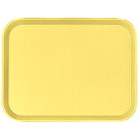 Cambro 1216FF108 12 inch x 16 inch Primrose Yellow Customizable Fast Food Tray - 24/Case