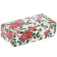 5 1/2 inch x 2 3/4 inch x 1 3/4 inch 1-Piece 1/2 lb. Poinsettia / Holiday Candy Box - 250/Case
