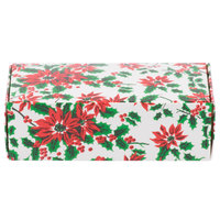 5 1/2 inch x 2 3/4 inch x 1 3/4 inch 1-Piece 1/2 lb. Poinsettia Candy Box - 250/Case