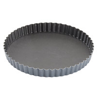 Matfer Bourgeat 332223 7 7/8 inch Fluted Non-Stick Tart / Quiche Pan with Removable Bottom