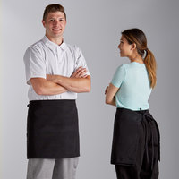 Choice Black 4-Way Waist Apron - 34 inchL x 34 inchW