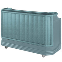 Cambro BAR730PMT421 Granite Green Cambar 73 inch Post-Mix Portable Bar with 7 Bottle Speed Rail, Cold Plate, Soda Gun, and Water Tank