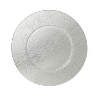 10 Strawberry Street WHSTLR-340 13 inch Whistler Nouve Etched Glass Charger Plate