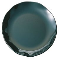 Thunder Group RF1016BW Black Pearl Two-Tone Platter - 2/Pack