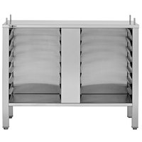 Convotherm CST20CB-4 Combi Oven Equipment Stand with Closed Base, Hinged Doors, and Adjustable Legs