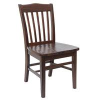 BFM Seating ZWC303DW-DW Columbia Dark Walnut Beechwood Chair