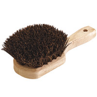 Carlisle 4546300 Sparta 8 1/2 inch Wok / Griddle Brush with Palmyra Bristles