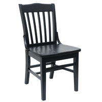 BFM Seating ZWC302BL-BL Cornell Black Beechwood Chair