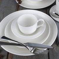Syracuse China 968001016 Zipline 9 oz. Royal Rideau White Porcelain Tea Cup - 36/Case