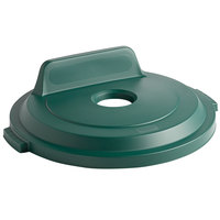 Rubbermaid 2018162 BRUTE 32 Gallon Green Recycling Bin Lid with Bottle/Can Hole and Vertical Billboard