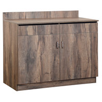 BFM Seating WS4047KP 47 inch Relic Knotty Pine Melamine Double Door Waitress Station