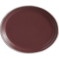 World Tableware ENG-8-M Englewood 12 inch Matte Mulberry Porcelain Oval Platter - 12/Case