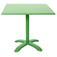BFM Seating PHB3232LM-2626LM Beachcomber-Bali 32 inch Square Lime Powder Coated Aluminum Dining Height Outdoor / Indoor Table