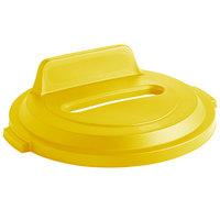 Rubbermaid 2018167 BRUTE 32 Gallon Yellow Recycling Bin Lid with Paper Slot and Vertical Billboard