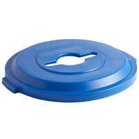 Rubbermaid 1788380 BRUTE 32 Gallon Blue Recycling Bin Lid with Mixed Recycle Slot