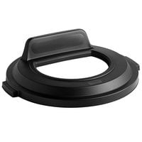 Rubbermaid 2017738 BRUTE 32 Gallon Black Recycling Bin Lid with Open Top and Vertical Billboard