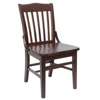 BFM Seating ZWC302DW-DW Cornell Dark Walnut Beechwood Chair