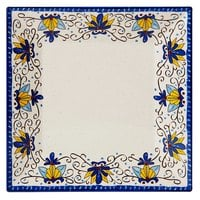 GET ML-90-SL Santa Lucia 12 inch Square Plate - 6 / Pack