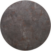 BFM Seating RC48R Relic Rustic Copper 48 inch Round Melamine Table Top with Matching Edge