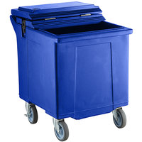 CaterGator 125 lb. Capacity Blue Mobile Ice Caddy with Flip Lid