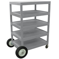 Luxor / H. Wilson BCB55 Gray 5 Shelf Serving Cart - 24 inch x 32 inch x 49 inch