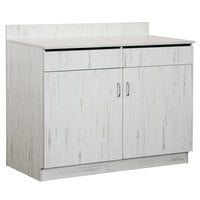 BFM Seating WS4047AW 47 inch Relic Antique Wash Melamine Double Door Waitress Station